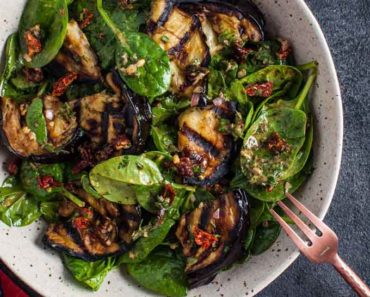 grilled_eggplant-spinach_salad