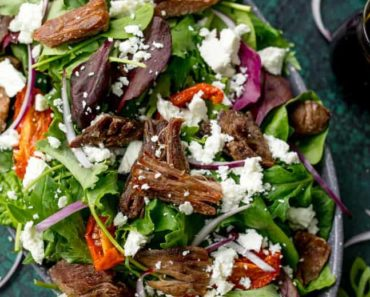 Crispy-Lamb-Salad-with-Feta-and-Sunblush-tomatoes-recipe