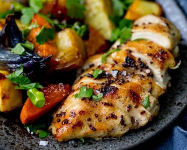 Sheet-Pan-Honey-mustard-chicken-with-vegetables-recipe